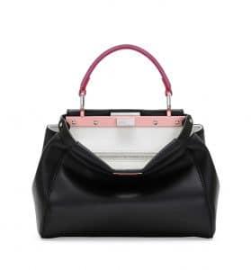 Fendi Black/Red/Fuchsia Peekaboo Mini Bag