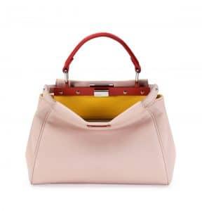 Fendi Light Pink/Yellow/Orange Peekaboo Mini Bag