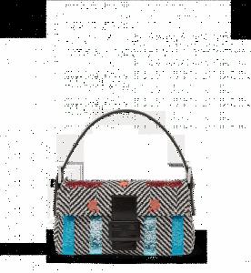 Fendi Multicolor Embroidered Baguette Bag