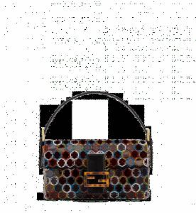 Fendi Multicolor Hexagonal Sequins Baguette Bag