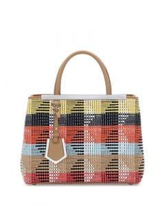 Fendi Multicolor Raffia 2Jours Bag