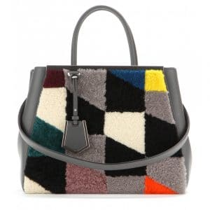 Fendi Multicolor Shearling:Leather 2Jours Bag