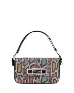 Fendi Pink/Blue/Yellow Snakeskin 3Baguette Bag