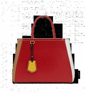 Fendi Red/White/Beige 2Jours Bag