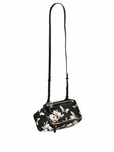 Givenchy Black Multicolor Magnolia Print Pandora Mini Bag - Cruise 2015