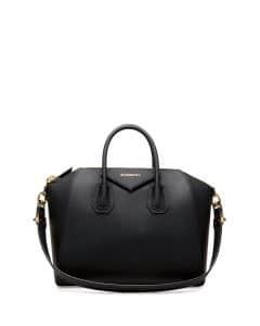 Givenchy Black Rubber-Effect Antigona Medium Bag - Cruise 2015