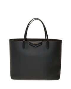 Givenchy Black Rubber-Effect Antigona Tote Bag - Cruise 2015