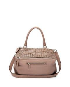 Givenchy Linen Croc-Stamped Pandora Medium Bag - Cruise 2015