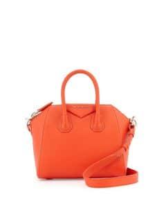 Givenchy Orange Antigona Mini Bag - Cruise 2015