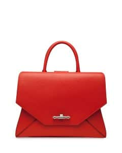 Givenchy Orange Obsedia Tote Medium Bag - Cruise 2015