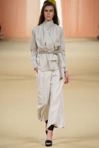 Hermes Beige Blouse and Pants - Spring 2015