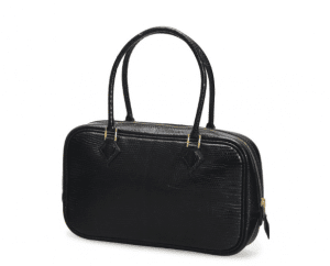 Hermes Black Lizard Plume 28cm Bag