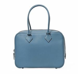 Hermes Bleu Jean Plume 28cm Bag