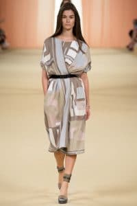 Hermes Multicolor Abstract Dress - Spring 2015