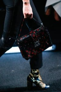 Louis Vuitton Black/Red Monogram Canvas Petite Malle Bag - Spring 2015
