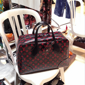 Louis Vuitton Black/Red Monogram Dora Bag - Spring 2015