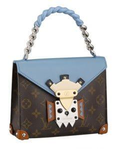 Louis Vuitton Blue Pochette Mask Chain Handle GM Bag