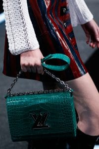 Louis Vuitton Green Crocodile Twist Bag - Spring 2015