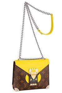 Louis Vuitton Jaune Pochette Mask Sliding Chain PM Bag