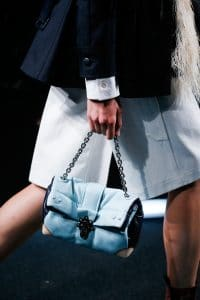Louis Vuitton Light Blue Folded Chain Bag - Spring 2015