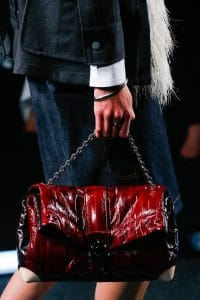 Louis Vuitton Maroon Folded Chain Bag - Spring 2015