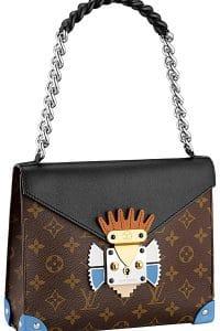 Louis Vuitton Noir Pochette Mask Chain Handle GM Bag