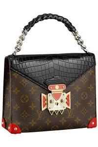 Louis Vuitton Noir Pochette Mask Crocodiliens GM Bag