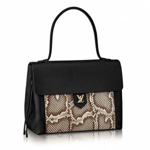 Louis Vuitton Noir with Python Lockme MM Bag