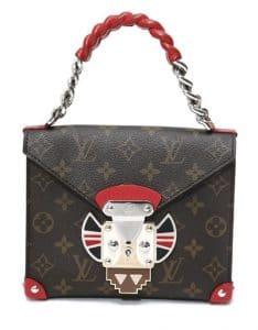 Louis Vuitton Rouge Pochette Mask Chain Handle GM Bag
