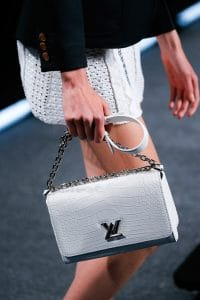 Louis Vuitton White Crocodile Twist Bag - Spring 2015