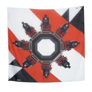 Moynat x Pharell Williams Red/White/Black Small Train Scarf