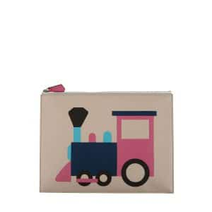 Moynat x Pharrell Williams Beige/Pink Train Pouch Small Bag