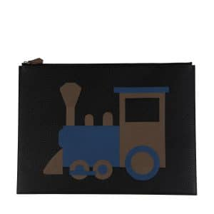 Moynat x Pharrell Williams Black/Brown Train Pouch Large Bag