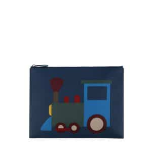 Moynat x Pharrell Williams Blue/Sky Train Pouch Small Bag
