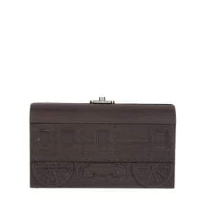 Moynat x Pharrell Williams Ebony Wood Train Clutch Bag