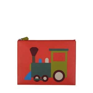 Moynat x Pharrell Williams Red/Green Train Pouch Small Bag