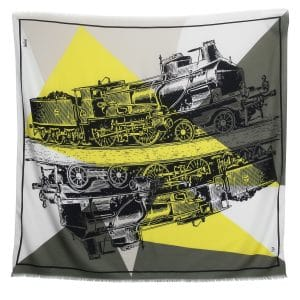 Moynat x Pharrell Williams Yellow/Grey Large Train Scarf