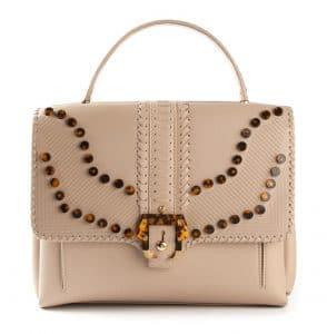Paula Cademartori Beige Embellished Faye Bag