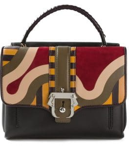 Paula Cademartori Brown Multicolor Leather/Suede Petite Faye Bag
