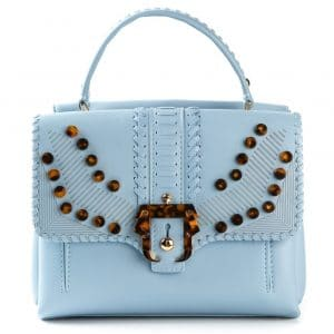Paula Cademartori Light Blue Embellished Petite Faye Bag