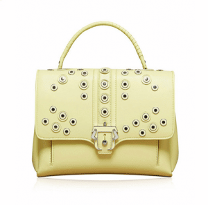 Paula Cademartori Pale Yellow with Rivets Faye Bag