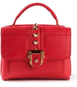 Paula Cademartori Red Studded Petite Faye Bag