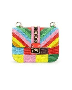 Valentino Multicolor Beaded Rockstud 1973 Lock Flap Small Bag - Cruise 2015