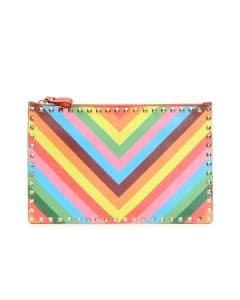 Valentino Multicolor Rockstud 1973 Zip Pouch Bag - Cruise 2015