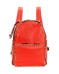 Valentino Red Rockstud Medium Backpack Bag - Cruise 2015