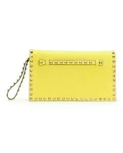 Valentino Yellow Rockstud Clutch Bag - Cruise 2015