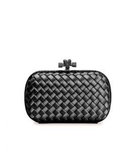 Bottega Veneta Black Knot Clutch Bag - Cruise 2015