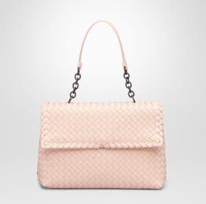 Bottega Veneta Flamingo Intrecciato Nappa Olimpia Large Bag - Cruise 2015