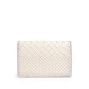 Bottega Veneta Mist Intrecciato Woven Clutch Bag - Cruise 2015