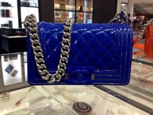 Chanel Blue Patent Boy Flap Small Bag - Cruise 2015